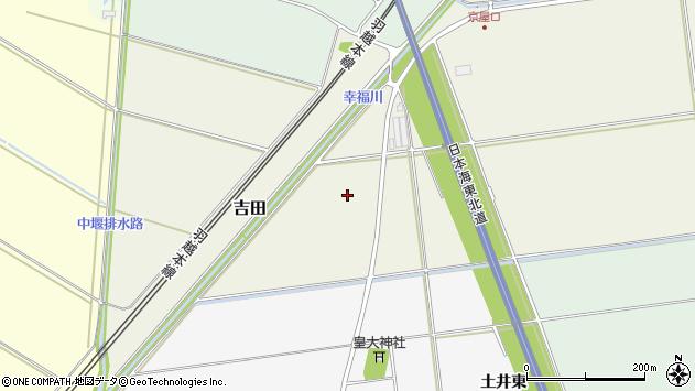 山形県酒田市吉田中谷地周辺の地図