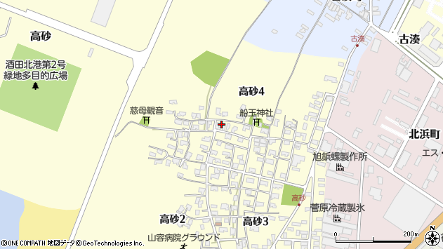 山形県酒田市高砂4丁目周辺の地図