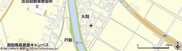 山形県酒田市豊里大割25周辺の地図