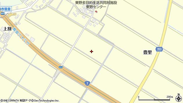 山形県酒田市豊里堰下周辺の地図