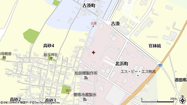 山形県酒田市北浜町3周辺の地図
