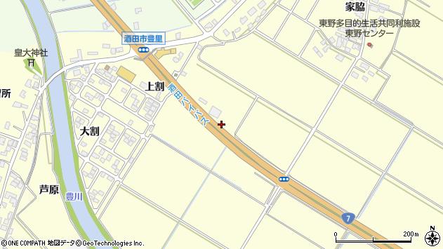 山形県酒田市豊里上割7周辺の地図