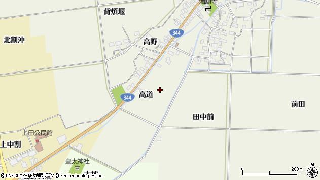 山形県酒田市安田高道周辺の地図