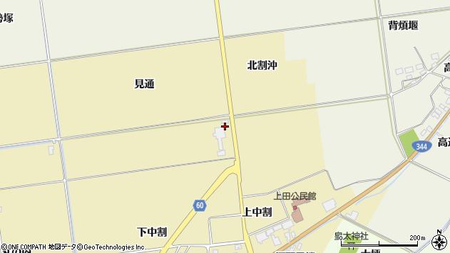山形県酒田市上野曽根北割沖周辺の地図