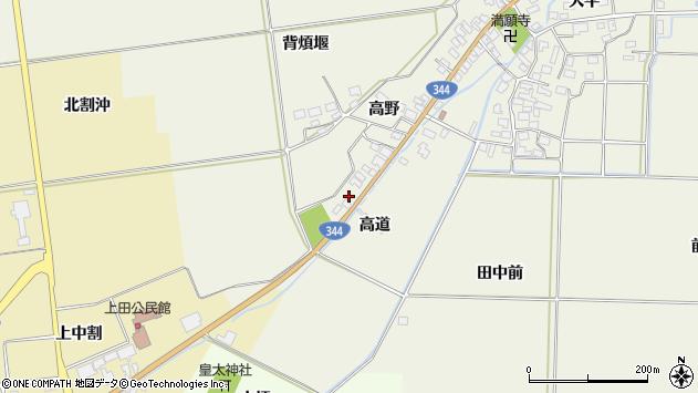 山形県酒田市安田高野85周辺の地図