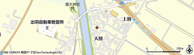 山形県酒田市豊里大割4周辺の地図