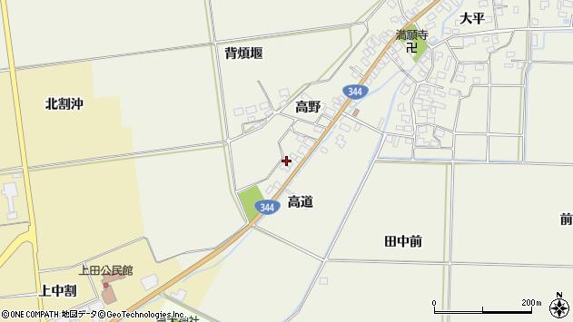 山形県酒田市安田高野45周辺の地図