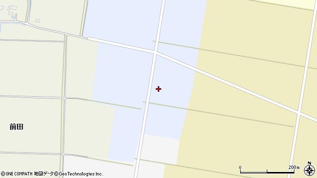 山形県酒田市上安田野岸周辺の地図