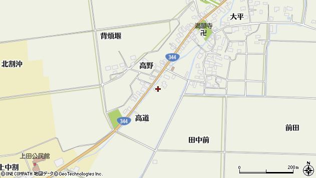 山形県酒田市安田高道6周辺の地図