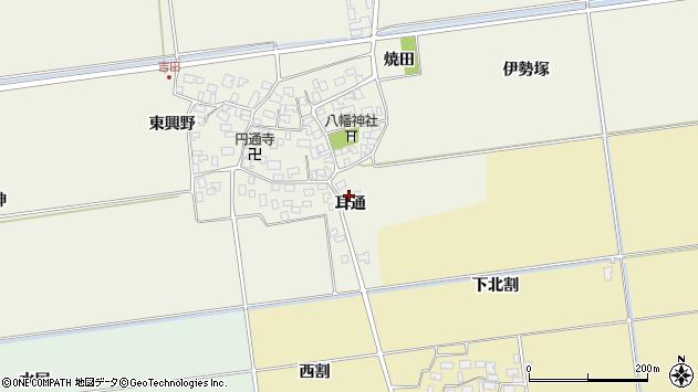 山形県酒田市吉田耳通周辺の地図