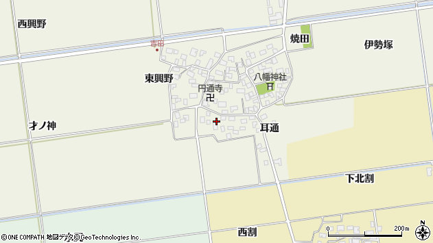山形県酒田市吉田才ノ神28周辺の地図
