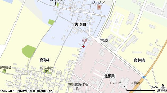 山形県酒田市古湊町1周辺の地図