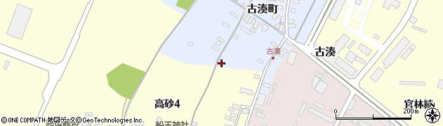 山形県酒田市古湊町2周辺の地図