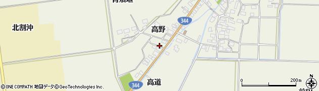 山形県酒田市安田高野38周辺の地図