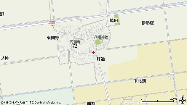 山形県酒田市吉田才ノ神周辺の地図