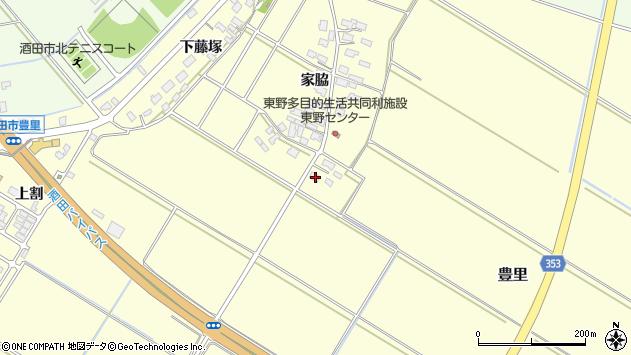 山形県酒田市豊里家脇64周辺の地図