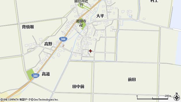 山形県酒田市安田大平82周辺の地図