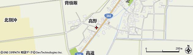 山形県酒田市安田高野35周辺の地図