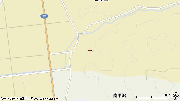 山形県酒田市北平沢盛沢45周辺の地図