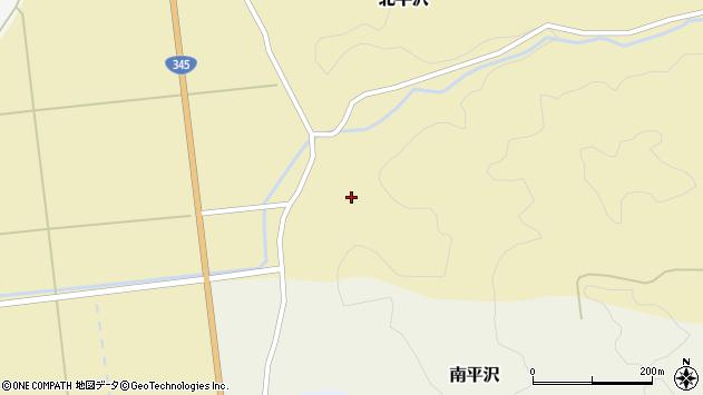 山形県酒田市北平沢盛沢周辺の地図