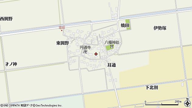 山形県酒田市吉田伊勢塚84周辺の地図