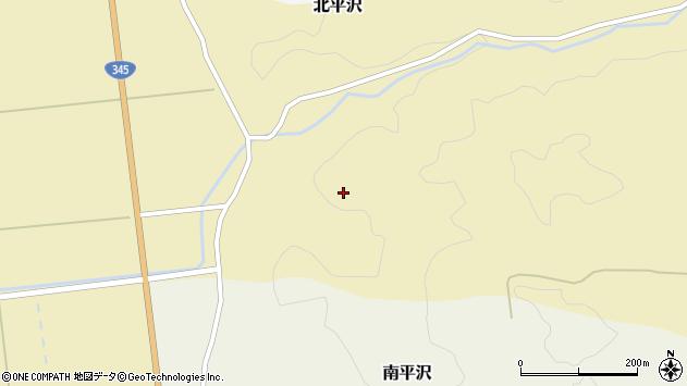 山形県酒田市北平沢盛沢30周辺の地図