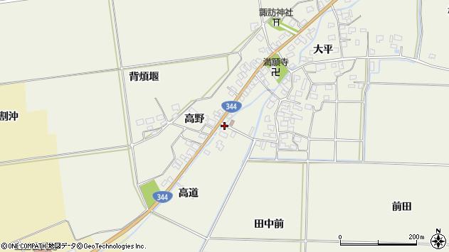 山形県酒田市安田高道1周辺の地図