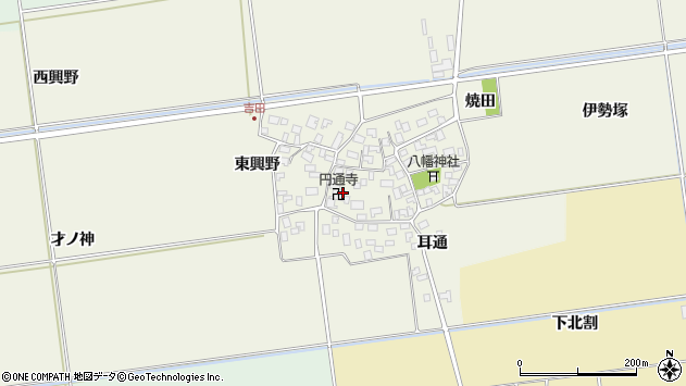 山形県酒田市吉田伊勢塚101周辺の地図