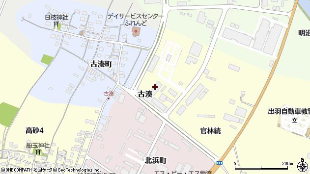 山形県酒田市古湊36周辺の地図
