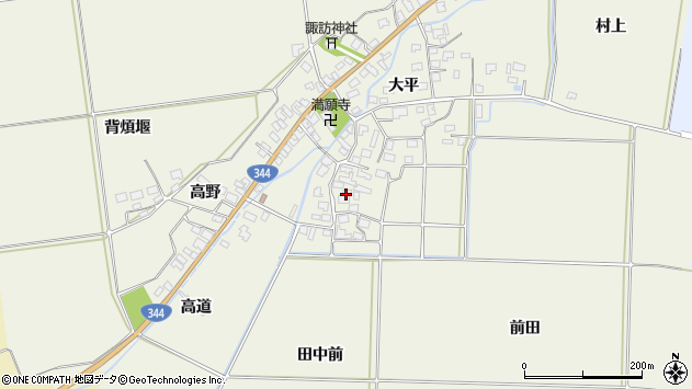 山形県酒田市安田大平79周辺の地図