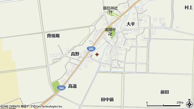 山形県酒田市安田周辺の地図