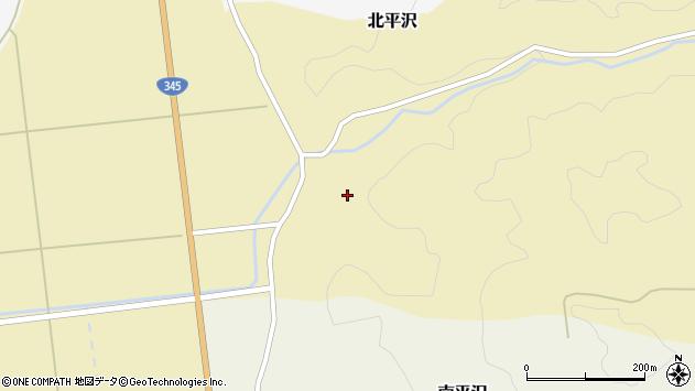 山形県酒田市北平沢盛沢56周辺の地図