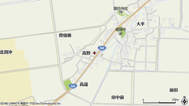 山形県酒田市安田高野18周辺の地図