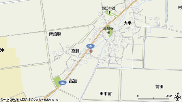 山形県酒田市安田大平184周辺の地図