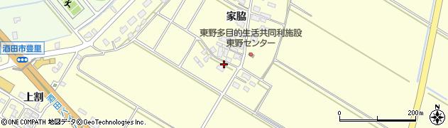 山形県酒田市豊里家脇周辺の地図