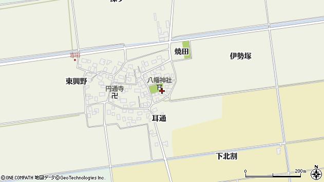 山形県酒田市吉田伊勢塚74周辺の地図