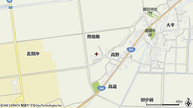 山形県酒田市安田背煩堰54周辺の地図
