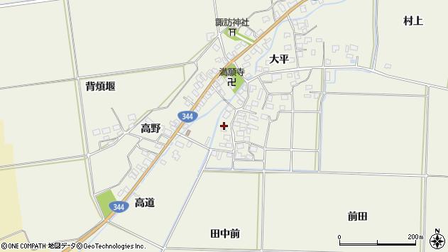 山形県酒田市安田大平周辺の地図