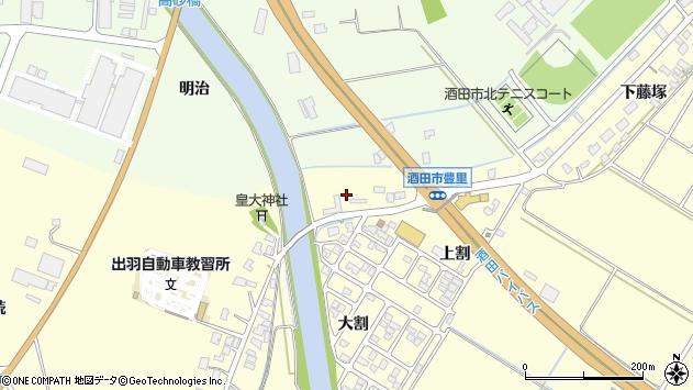 山形県酒田市豊里堂脇11周辺の地図