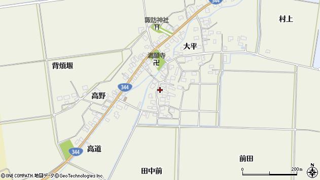 山形県酒田市安田大平78周辺の地図