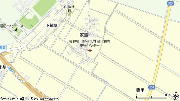 山形県酒田市豊里家脇30周辺の地図