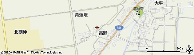 山形県酒田市安田背煩堰39周辺の地図