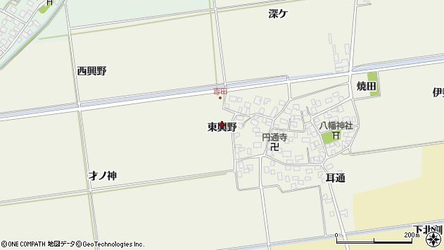 山形県酒田市吉田東興野周辺の地図