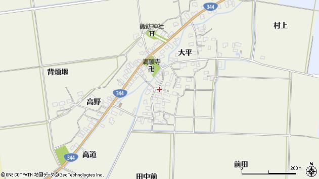 山形県酒田市安田大平74周辺の地図