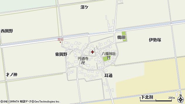 山形県酒田市吉田伊勢塚107周辺の地図
