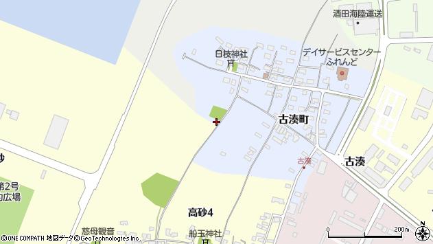 山形県酒田市古湊町4周辺の地図