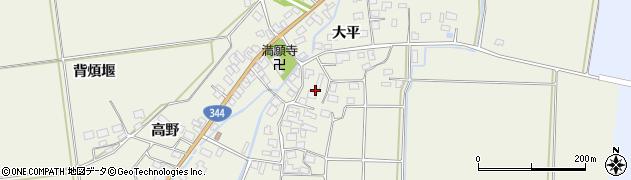 山形県酒田市安田大平72周辺の地図