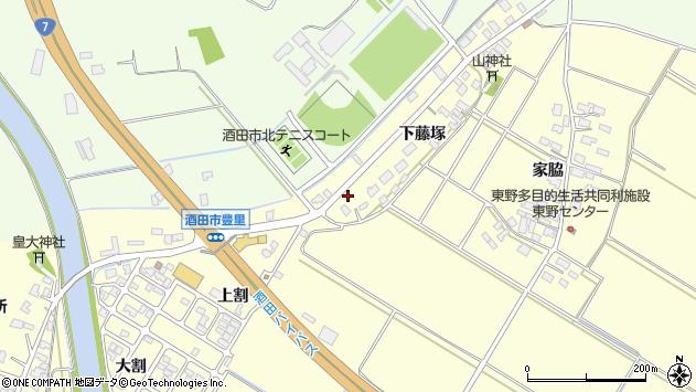 山形県酒田市豊里下藤塚99周辺の地図