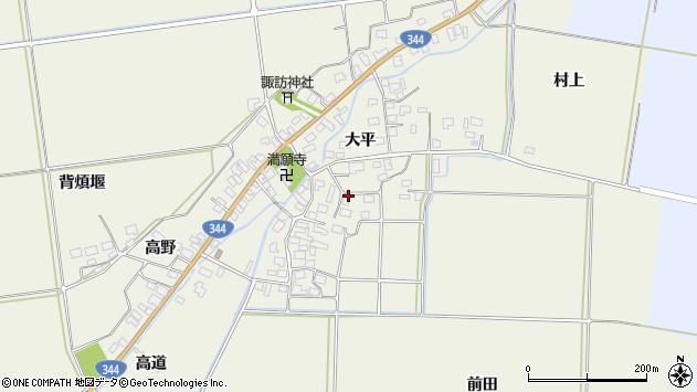 山形県酒田市安田大平69周辺の地図