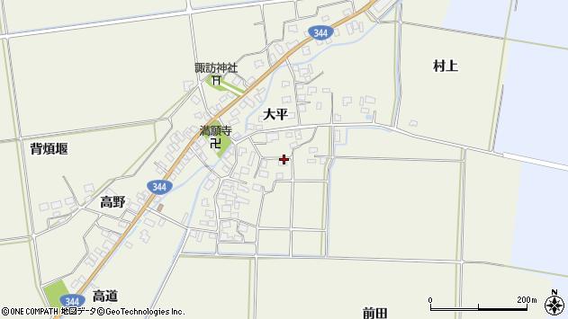 山形県酒田市安田大平68周辺の地図